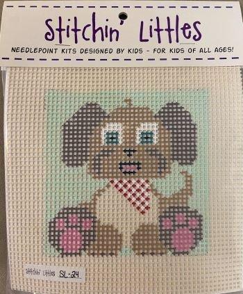 SL24 BANDIT THE PUPPY STITCHIN' LITTLES KIT  by Purple Palm Designs