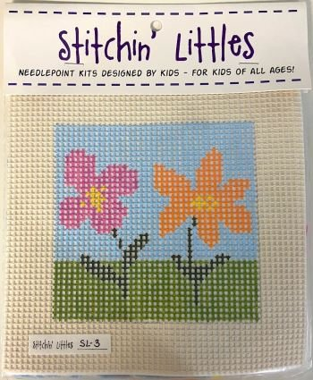 SL03 TWO BLOOMS STITCHIN' LITTLES KIT  by Purple Palm Designs