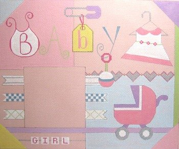 SMFGirl-Baby Girl Scrapbook with Stitch Guide by Sew Much Fun