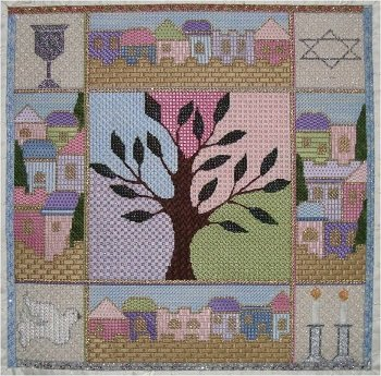 SMF TREE OF LIFE CHALLAH COVER with Stitch Guide by Sew Much Fun