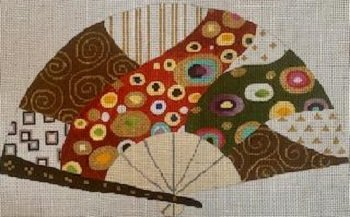 KLIMT GOLD STREAM FAN by Sophia Designs STITCH GUIDE SOPSC912sg