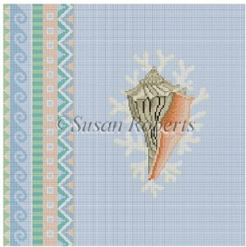 SR1047 Geo Pattern Lightling Whelk by Susan Roberts