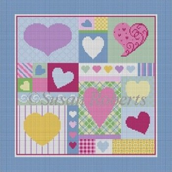 SR1056 HEART PATCHWORK by Susan Roberts