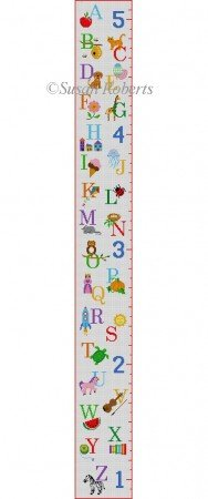ALPHABET SAMPLER GROW CHART by Susan Roberts STITCH GUIDE SR1507sg