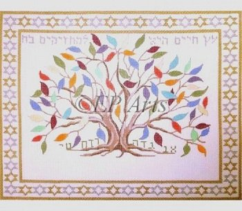 TREE OF LIFE TALLIS OR TEFILLIN by Susan Roberts Stitch Guide - SREP273 or SREP173sg