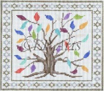SREP0273Tf-TREE OF LIFE TEFILLIN BAG by Susan Roberts