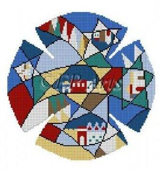 SREP1176 HILLS OF JUDEA YARMULKE by Susan Roberts
