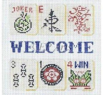 SREP824 WELCOME MAH JONGG by Susan Roberts