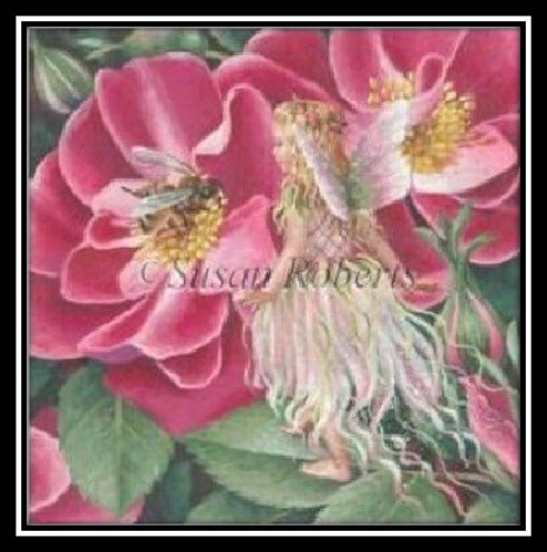 WILD ROSE FAIRY by Liz Tapestry Tent STITCH GUIDE-SRTTAP484sg