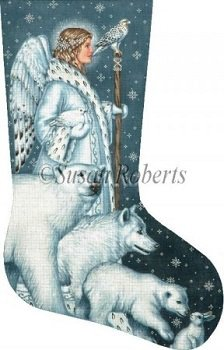 SRTTAXS368 ARCTIC ANGEL STOCKING by LIZ for Susan Roberts