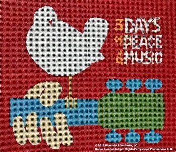 PPD9000 3 DAYS OF PEACE AND MUSIC WOODSTOCK by Purple Palm Designs