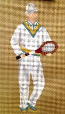 STARNW011-Male Tennis Player by Star Needlearts