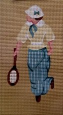 STARNW013-Female Tennis Player by Star Needlearts
