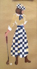STNW014-Female Golfer by Star Needlearts