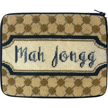 APSZ7502 POLKA DOT MAH JONGG STITCH 'N ZIP CASE by Alice Peterson