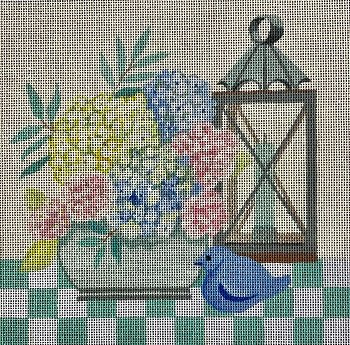 VNGAL036 BEACHSIDE TABLESCAPE by Amanda Lawford for Vallerie Needlepoint Gallery