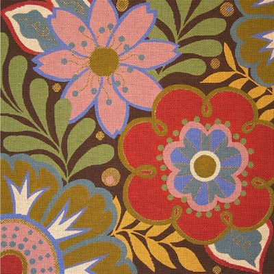 VNGAL24008 MEDIUM FALL HARLEQUIN FLORAL by Amanda Lawford for Vallerie Needlepoint Gallery