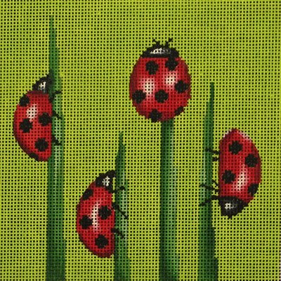 VNGAL24016 LADYBUGS by Amanda Lawford for Vallerie Needlepoint Gallery