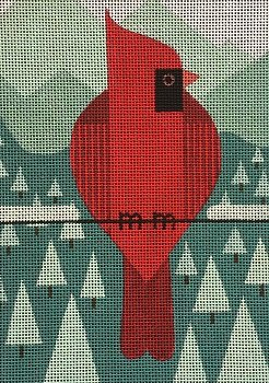 VNGSP012 WINTER CARDINAL by Vallerie Needlepoint Gallery