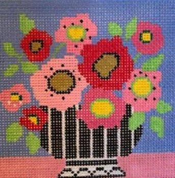 AL27 PINK MOD FLOWERS by Amanda Lawford