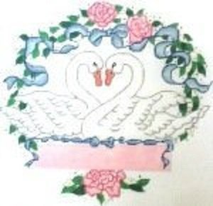 WN69A-Wedding Swans by Wee Needle