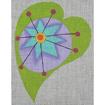 ZE259G Star Flower Heart by Karen Hennessey for Zecca