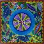 ZE5-Leaf Clock Canvas by Zecca