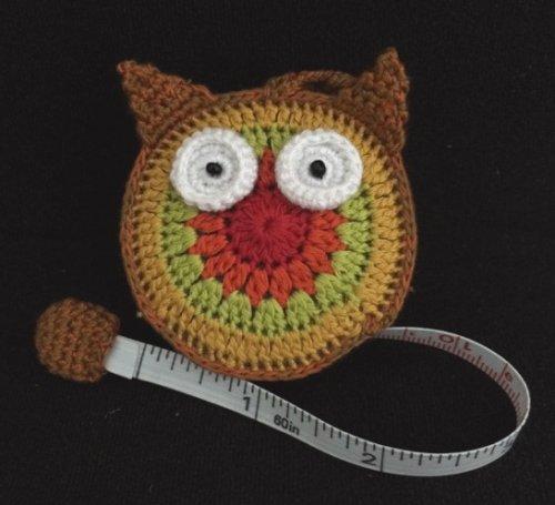 Crocheted Owl Tape Measure