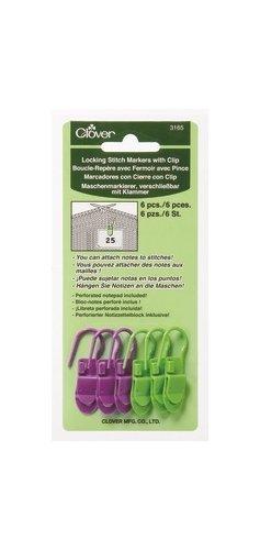 Locking Stitch Markers w/ Clip