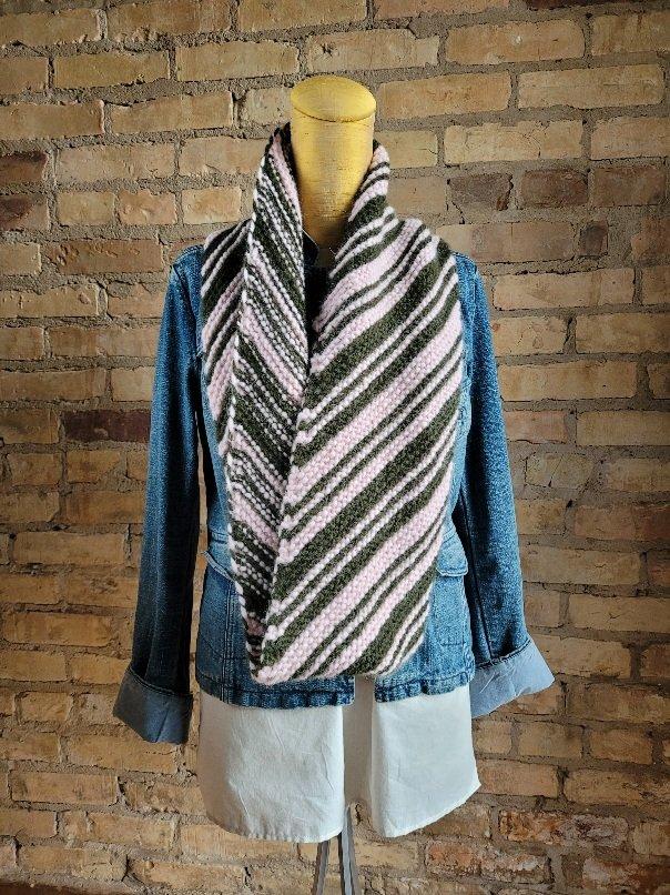 Diagoal Striped Garter Stitch Loop Kits