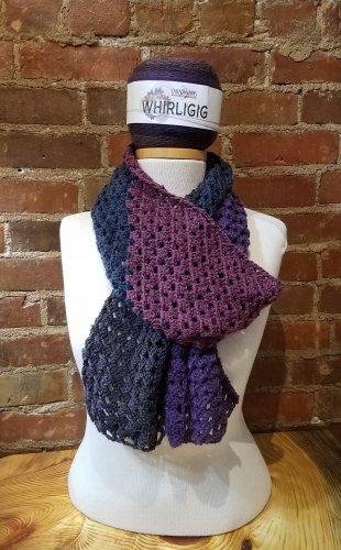 Whirligig Crochet scarf