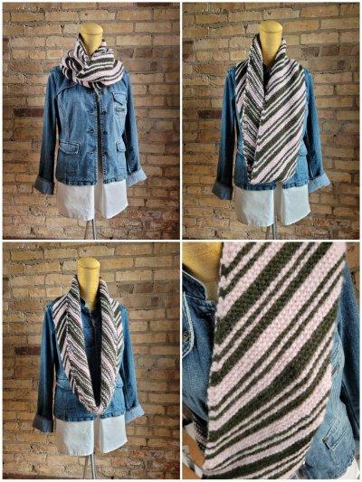 Diagonal Striped Garter Stitch Loop kits