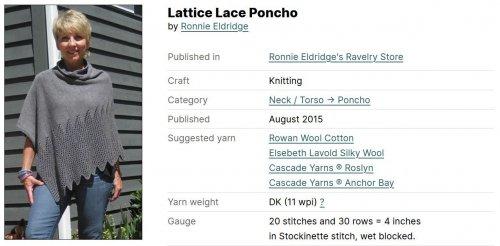 Lattice Lace Poncho
