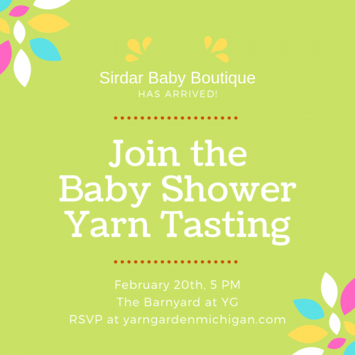 Baby Shower Yarn Tasting