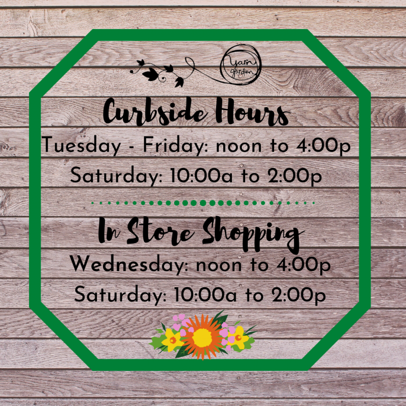 Curbside Pick Up Hours and In Store Shopping!