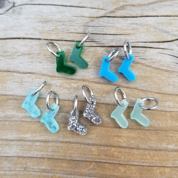 Acrylic Tiny Sock Stitch Marker Set by Katrinkles