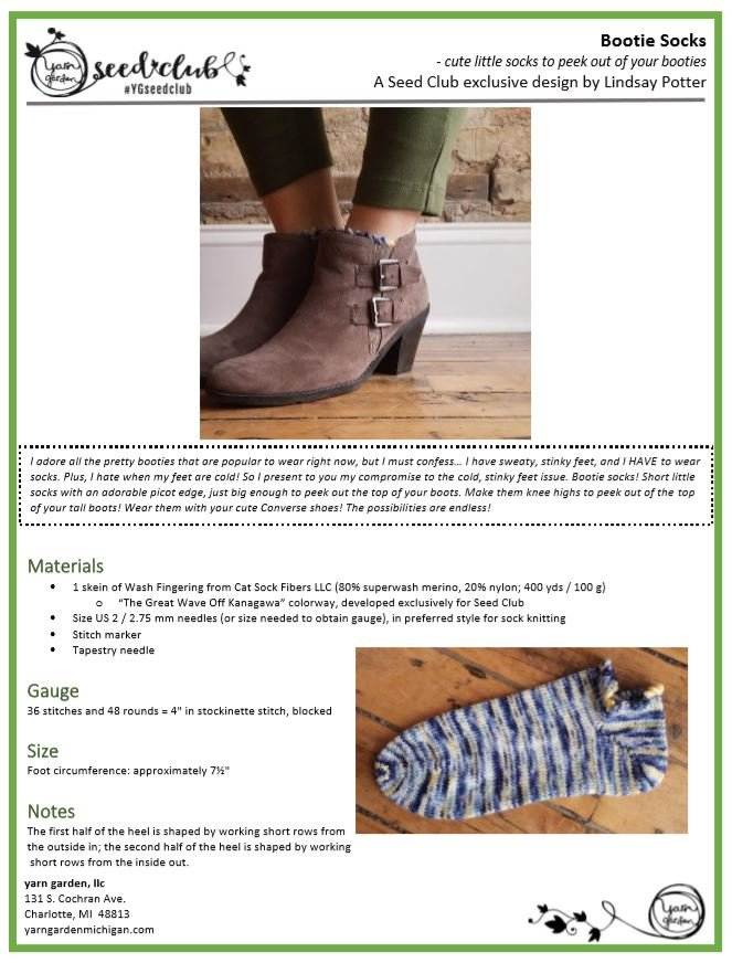 Bootie Sock - Pattern Download