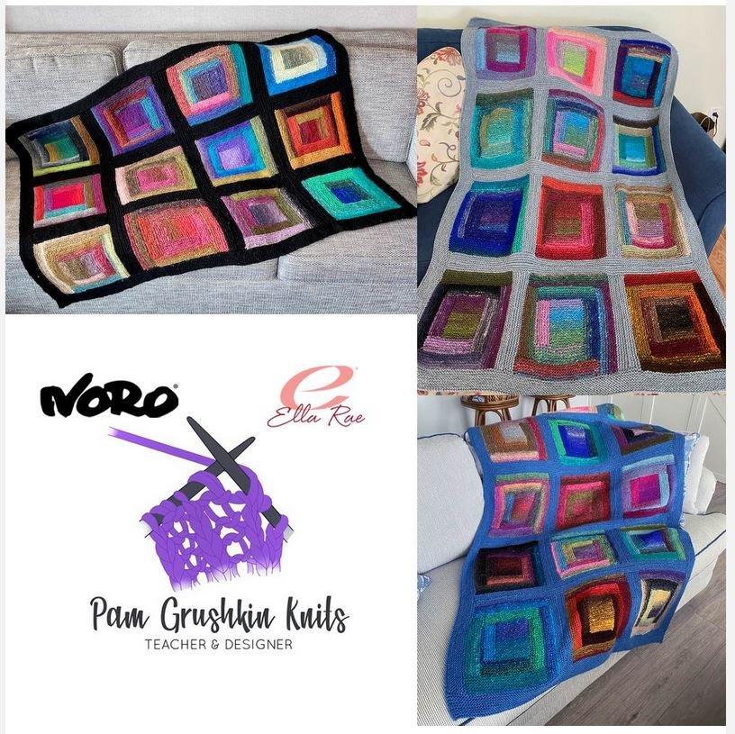 Noro Log Cabin Blanket Kit by Pam Grushkin Knits