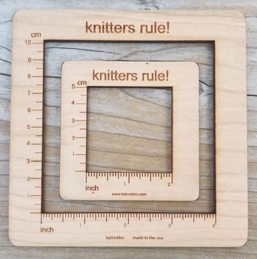 Gauge Swatch Ruler by Katrinkles