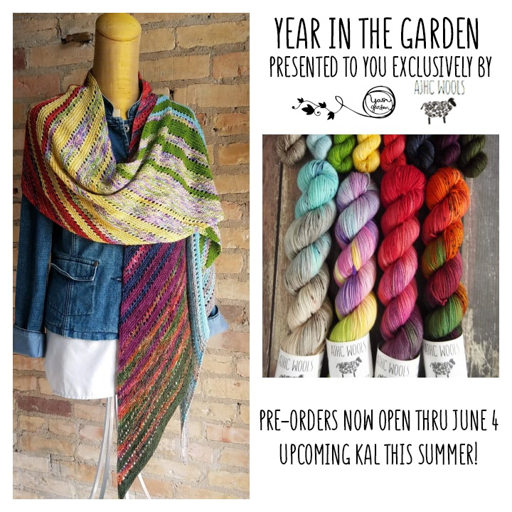 Year In The Garden Collaboration with AJHC Wools