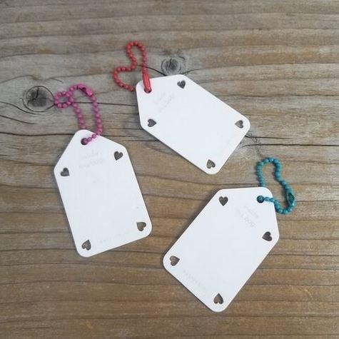 Write On / White Wipe Off Tags - Set of 3