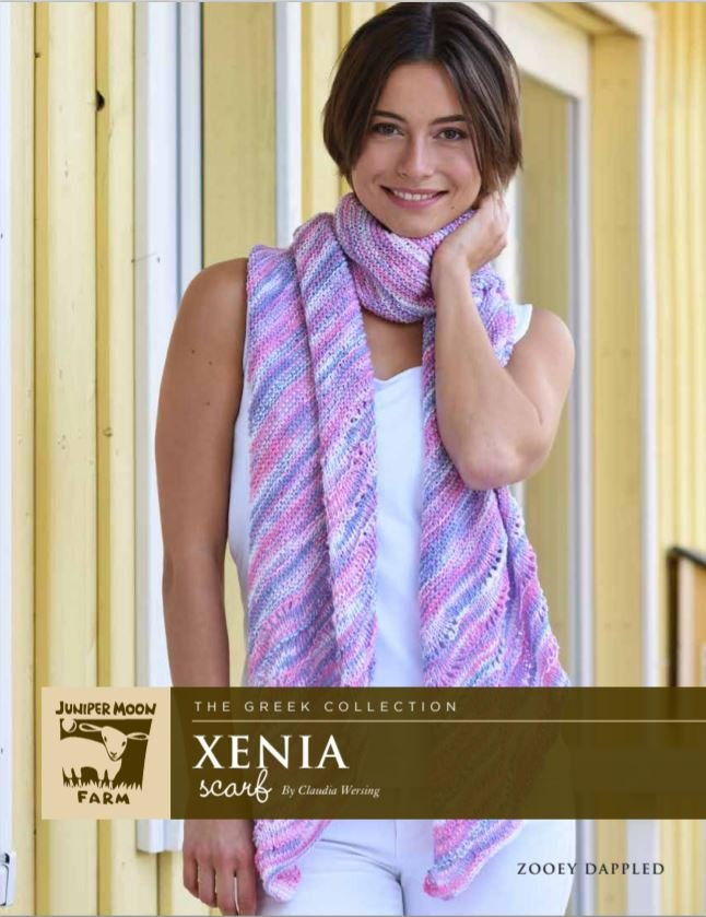 Xenia Scarf Pattern for Zooey Dappled