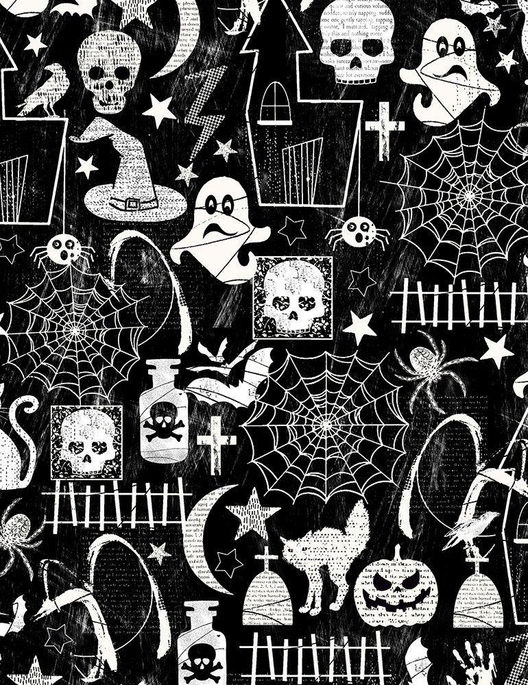Timeless Treasures - Glow in the Dark Halloween Print