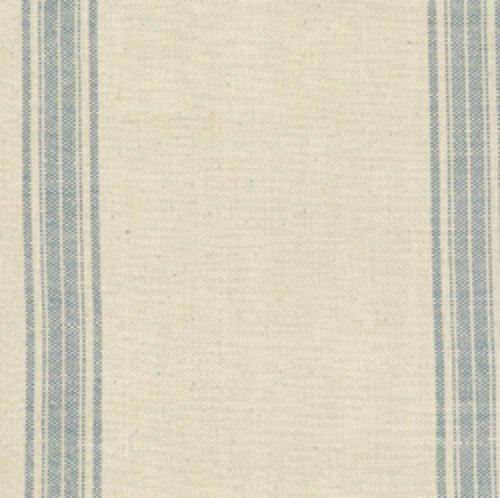 Toweling - 3 yards - Ecru with Blue Stripe