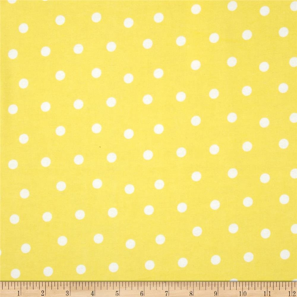 Fabri-Quilt - polka dot flannel yellow