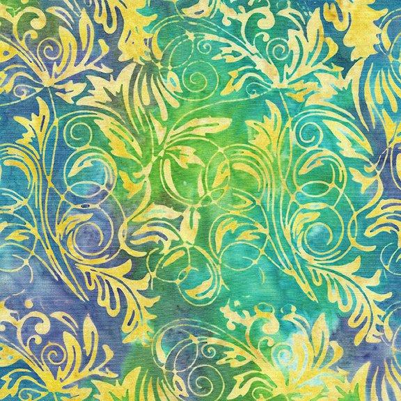 Island Batik - Leaf Tendrils Mardi