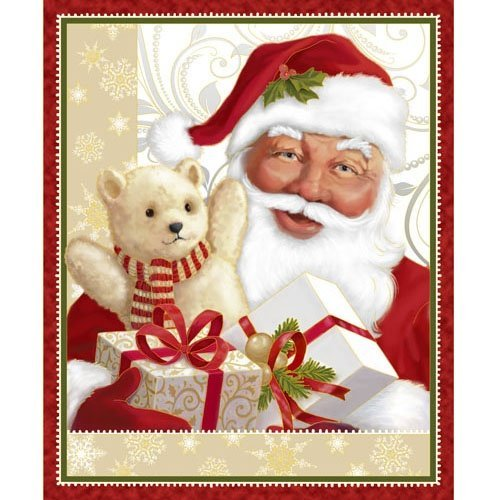 Quilting Treasures -Jolly Old St. Nick Panel
