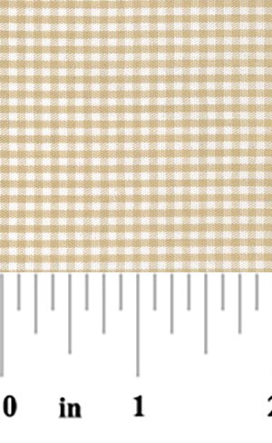 Fabric Finders - 1/16 in. Gingham Check - Khaki
