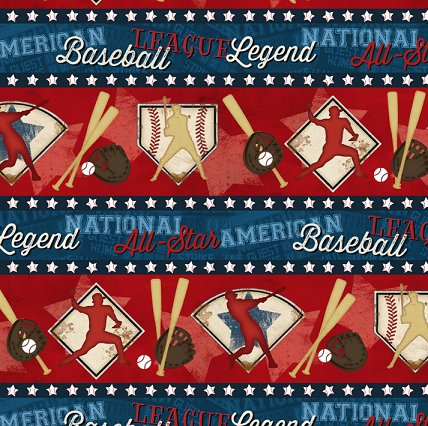 Wilmington - 7th Inning stretch - Border Print