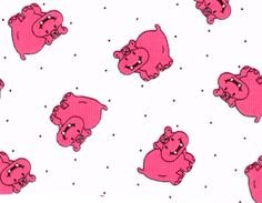Fabric Finders - Pink Hippo